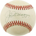 Autographs:Baseballs, Joe DiMaggio Single Signed Baseball. The Yankee Clipper took thenation by storm with his tremendous competence in centerfi...