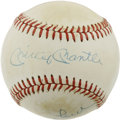 Autographs:Baseballs, Mickey Mantle/Whitey Ford Signed Baseball. Two members of the WorldSeries winning New York Yankees have added their signat...