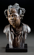 Sculpture, BLAIR BUSWELL (American, b. 1956). Ebony, 1991. Bronze. 9-1/2 inches (24.1 cm). Ed. 5/12. Signed and dated on base: BU...