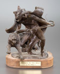Sculpture, FRED FELLOWS (American, b. 1934). Brother to the Wolf. Bronze. 10 inches (25.4 cm). Signed on base: FELLOWS CA. TH...