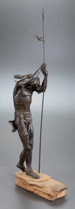 Sculpture, Attributed to DAVE MCGARY (American, b. 1958). Last Moon. Bronze. 32-1/2 inches (82.6 cm). THE HOGAN FAMILY COLLECTION...