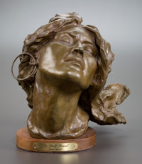 GRANT SPEED (American, b. 1930) Half Breed, 1976 Bronze with patina 10 inches (25.4 cm) Signed