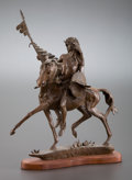 Fine Art - Painting, American, DAVE MCGARY (American, b. 1958). Untitled, 1981. Bronze. 16inches (40.6 cm). Ed. 23/30. Signed on base: Dave McGary...