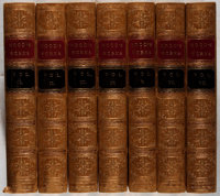 Thomas Hood. The Works... London: Moxon, 1862-1863. Seven octavo volumes. Bound in contemporary