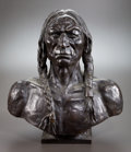 Sculpture, After CHARLES SCHREYVOGEL (American, 1861-1912). White Eagle. Bronze. 20 inches (50.8 cm). Inscribed on base. THE HOGA...