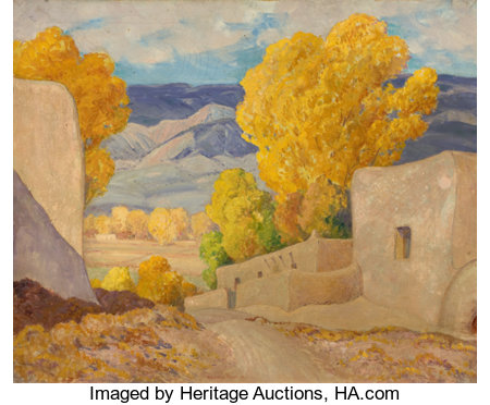 ORIN SHELDON PARSONS (American, 1866-1943)October, Alcalde, New MexicoOil on canvas25 x 30 inches (63.5 x 76.2 cm)...