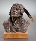 Sculpture, EDWARD FRAUGHTON (American, b. 1939). Indian Bust, 1975. Bronze with patina. 12 inches (30.5 cm). Ed. 13/30. Signed and ...