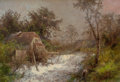 , HERMANN HERZOG (American, 1832-1932). The Old Mill. Oil oncanvas. 19 x 27-1/2 inches (48.3 x 69.9 cm). Signed lower rig...