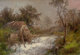 HERMANN HERZOG (American, 1832-1932) The Old Mill Oil on canvas 19 x 27-1/2 inches (48.3 x 69.9 cm) Signed lower rig