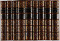Books:Fine Bindings & Library Sets, William Shakespeare. The Works... Cambridge: Macmillan, 1863-1866. Bound in contemporary full tree calf, gilt, spine... (Total: 9 Items)