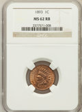 Indian Cents: , 1893 1C MS62 Red and Brown NGC. NGC Census: (16/640). PCGSPopulation (10/364). Mintage: 46,642,196. Numismedia Wsl. Price ...