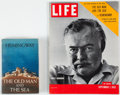 Books:Literature 1900-up, Ernest Hemingway. The Old Man and the Sea. NY: Scribner's1952. First edition. [And]: Life Magazine. Sep... (Total: 2Items)