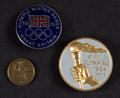 Miscellaneous Collectibles:General, 1964-84 Summer and Winter Olympics Pins and Coin Lot of 3....