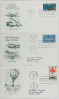 Books:Americana & American History, [First Day Covers]. Group of Three Related to Aviation. 1959, 1961,1976. Fine. A first day cover is a stamped envelope or c...