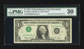 Error Notes:Inverted Third Printings, Fr. 1908-D $1 1974 Federal Reserve Note. PMG Very Fine 30.. ...