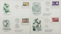 Books:Americana & American History, [First Day Covers]. Group of Four Related To ScientificAchievements. 1958-1976. Fine. A first day cover is a stampedenvelo...