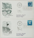 Books:Americana & American History, [First Day Covers]. Group of Two Related To NATO and SEATO.1959-1960. Fine. A first day cover is a stamped envelope or card...