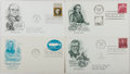Books:Americana & American History, [First Day Covers]. Group of Four Related To Literary Americans .1958-1970. Fine. A first day cover is a stamped envelope o...