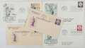 Books:Americana & American History, [First Day Covers]. Group of Five Featuring the Statue of Liberty.1958-1961. Fine. A first day cover is a stamped envelope ...