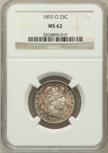 Barber Quarters: , 1892-O 25C MS62 NGC. NGC Census: (54/190). PCGS Population(68/205). Mintage: 2,640,000. Numismedia Wsl. Price for problem ...