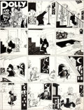 Original Comic Art:Comic Strip Art, Cliff Sterrett Polly and Her Pals Sunday Comic Strip Original Art dated 4-7-35 (King Features Syndicate, 1935)....