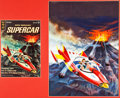 Original Comic Art:Covers, George Wilson Supercar #3 Cover Original Art (Gold Key,1963)....