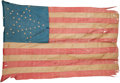 Political:Textile Display (pre-1896), Abraham Lincoln: Funeral-Used 34-Star U.S. Flag....