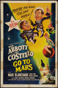 """Movie Posters:Comedy, Abbott and Costello Go to Mars (Universal International, 1953). OneSheet (27"""" X 41""""). Comedy.. ..."""