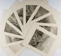 Books:Prints & Leaves, Group of Ten Nineteenth-Century Engravings by Gustave Dore. WithCaptioned Tissue Guards. Approx. 14.25 x 10.5 inches. V...