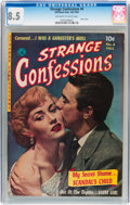 Golden Age (1938-1955):Romance, Strange Confessions #4 (Ziff-Davis, 1952) CGC VF+ 8.5 Off-white to white pages....