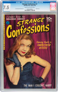 Golden Age (1938-1955):Romance, Strange Confessions #1 (Ziff-Davis, 1952) CGC VF- 7.5 Cream tooff-white pages....