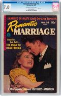 Golden Age (1938-1955):Romance, Romantic Marriage #14 (Ziff-Davis, 1952) CGC FN/VF 7.0 Off-white towhite pages....