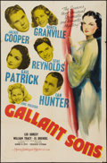 """Movie Posters:Mystery, Gallant Sons (MGM, 1940). One Sheet (27"""" X 41""""). Mystery.. ..."""