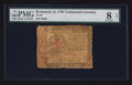 Colonial Notes:Continental Congress Issues, Continental Currency January 14, 1779 $5 PMG Very Good 8 Net.. ...