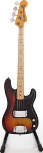 Musical Instruments:Bass Guitars, 1975 Fender Precision Bass Sunburst Electric Bass Guitar, Serial # 622160. ...