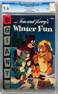 Golden Age (1938-1955):Cartoon Character, Dell Giant Comics: Tom and Jerry Winter Fun #4 File Copy (Dell,1955) CGC NM+ 9.6 Off-white to white pages....