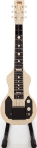Musical Instruments:Lap Steel Guitars, 1950s English Electronics Tonemaster White Pearloid Lap Steel Guitar....
