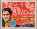 "Movie Posters:Drama, A Tale of Two Cities (MGM, R-1962). Half Sheet (22"" X 28""). Drama.. ..."