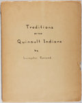 Books:Americana & American History, [Native Americans]. Livingston Farrand. Traditions of theQuinault Indians. [New York: American Museum of Natura...
