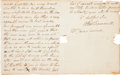 Autographs:Military Figures, [Revolutionary War]. Alexander Scammell Autograph Letter Signed...