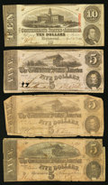 Confederate Notes:1862 Issues, 1862 - 1864 Notes.. ... (Total: 4 notes)