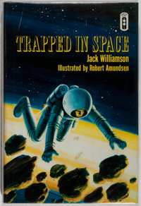 Jack Williamson. SIGNED. Trapped in Space. Garden City: Doubleday, [1968]. First edi