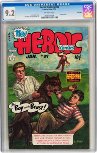 Heroic Comics #89 File Copy (Eastern Color, 1954) CGC NM- 9.2 Off-white pages