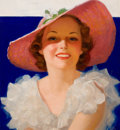 Pin-up and Glamour Art, WALT OTTO (American, 1895-1963). Beauty with Hat. Oil oncanvas. 22 x 20 in.. Signed lower right. ...