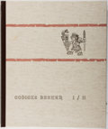 Books:World History, Karl A. Nowotny [editor]. Codices Becker I / II. Druck, 1961. Folio book and 3 color folding plates held in publishe...