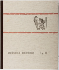 Karl A. Nowotny [editor]. Codices Becker I / II. Druck, 1961. Folio book and 3 color folding pl