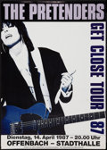 "Movie Posters:Rock and Roll, The Pretenders: Get Close Tour (1987). German A1 Concert Poster(23.5"" X 33""). Rock and Roll.. ..."