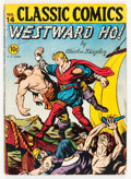 Golden Age (1938-1955):Classics Illustrated, Classic Comics #14 Westward Ho! - First Edition (Gilberton, 1943)Condition: VG-....