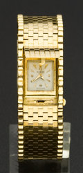 Timepieces:Wristwatch, Omega 18k Gold Covered Dial Bracelet Wristwatch. ...