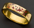 Estate Jewelry:Bracelets, Antique French Gold, Enamel & Diamond Bracelet, circa 1850's....